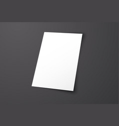 mockup blank cover on a black background vector image