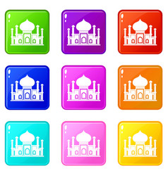 Mosque set 9 vector