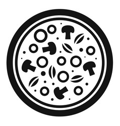 mushroom pizza icon simple style vector image