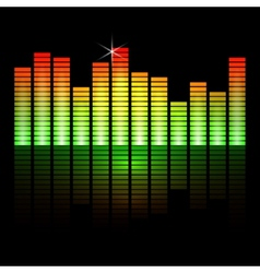 Music equalizer bars on black background vector