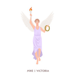 nike or victoria - deity or goddess victory vector image