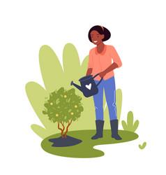 people work in garden gardener worker woman vector image