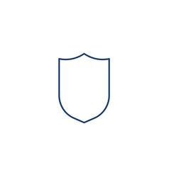 Protect guard shield plain line concept outline vector