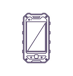 Protected mobile phone device with blank screen vector