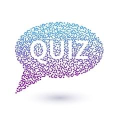 Quiz concept vector