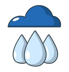 rain icon cartoon style vector image vector image