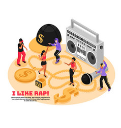Rap retro design concept vector