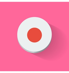 round icon with flag japan vector image