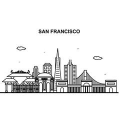 san francisco city tour cityscape skyline line vector image