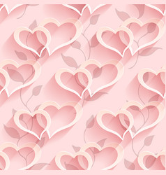 Seamless heart pattern soft background regular vector