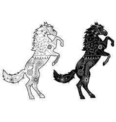Set of black horses vector image