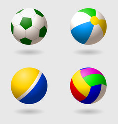 Set of children s balls for different games vector