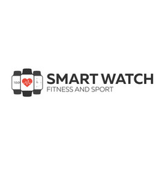smart watch logo for fitness and sport vector image