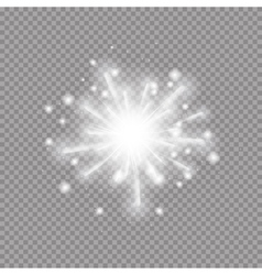 Star Burst with Sparkles on vector