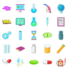 substance icons set cartoon style vector image