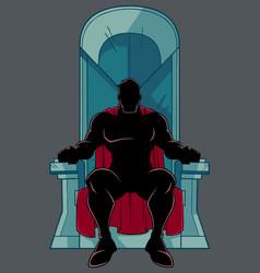 Superhero on throne silhouette vector