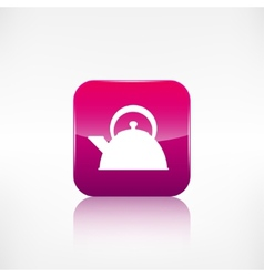 Teapot icon coffee pot symbol vector