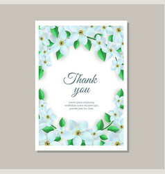 Tender gratitude card with vector