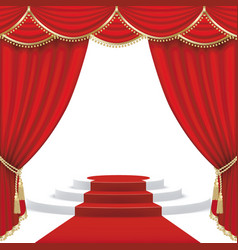 theater stage mesh vector image