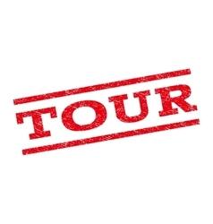 Tour Watermark Stamp vector image