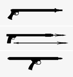 underwater speargun vector image