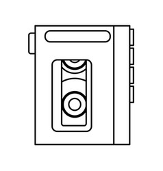 Walkman cassette player icon vector