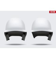 White baseball helmet vector image
