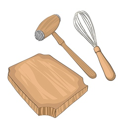 Wooden meat tenderizer vector image