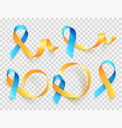 World down syndrome day march 21 realistic blue vector