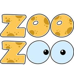 Zoo title vector