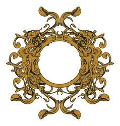 baroque floral ornament vector image vector image