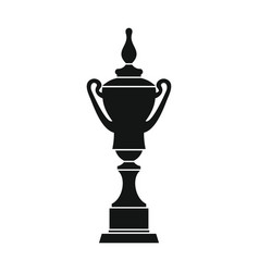 champion cup for winner in silhouette style vector image vector image