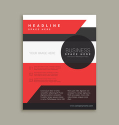 company business brochure template in red black vector image vector image