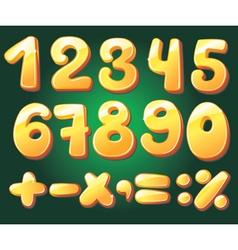 hand drawn numerals vector image