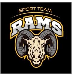Rams logo for a sport team vector image vector image