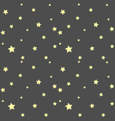 seamless pattern with simple stars vector image