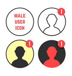 set of male user icons vector image vector image