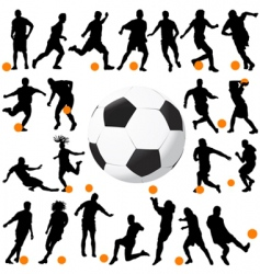soccer and ball vector image vector image