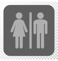 WC Persons Rounded Square Button vector image vector image