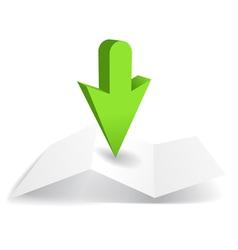 Arrow marker vector image vector image