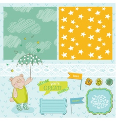 Baby Bear Shower Theme vector image vector image