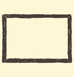 Brown Frame Sketch vector image vector image