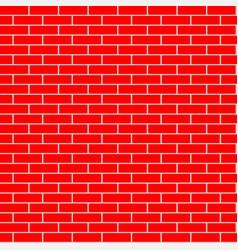 cartoon seamless flat brick wall texture vector image vector image