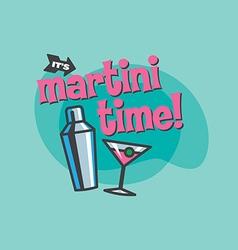 Martini Time Design vector image