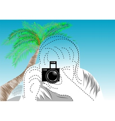 travel photographer vector image
