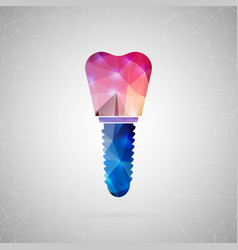 abstract creative concept icon of implant vector image vector image