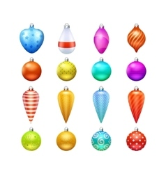 Christmas Toys Icons Set vector image vector image