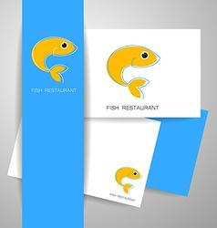fish restaurant card vector image