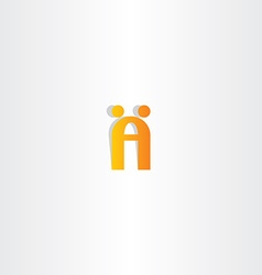 letter a logo people dancing vector image