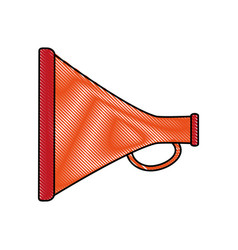 megaphone or bullhorn icon image vector image